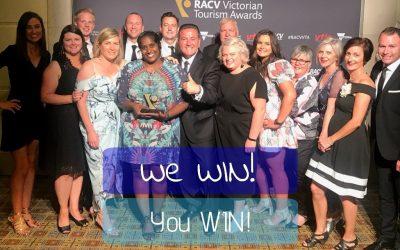 Victorian Tourism Awards Trophies.